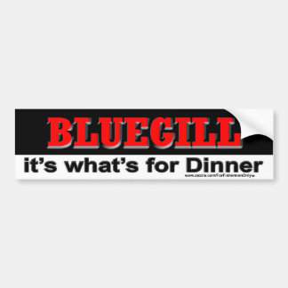 BLUEGILL it's what's for dinner Bumper Sticker
