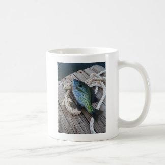 bluegill on dock coffee mug