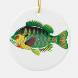 Bluegill Panfish Vector Ceramic Ornament
