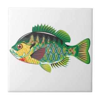 Bluegill Panfish Vector Ceramic Tile