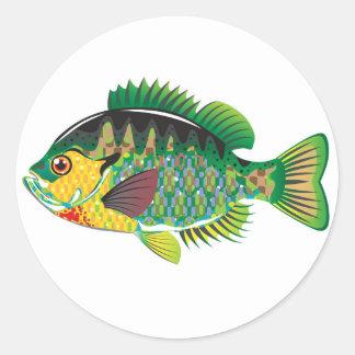 Bluegill Panfish Vector Classic Round Sticker