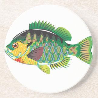 Bluegill Panfish Vector Drink Coaster