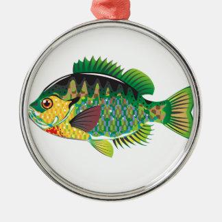 Bluegill Panfish Vector Metal Ornament