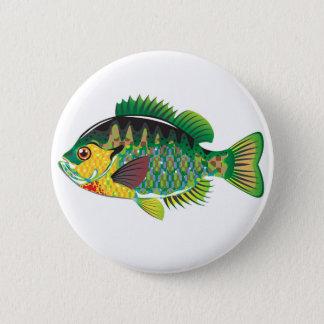 Bluegill Panfish Vector Pinback Button