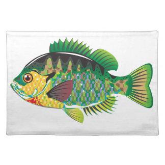 Bluegill Panfish Vector Placemat