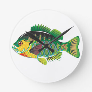 Bluegill Panfish Vector Round Clock