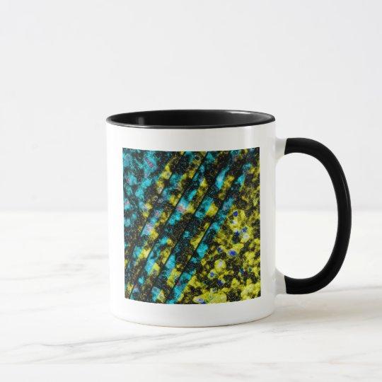 BlueGoldWormStone Mug