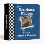 "BlueGrandmas Kitchen 1"" Custom Photo Recipe Binder"