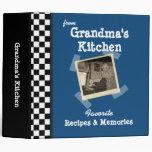 "BlueGrandmas Kitchen 2"" Custom Photo Recipe (ne Binder"