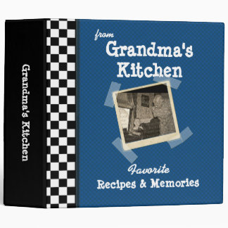 "BlueGrandmas Kitchen 2"" Custom Photo Recipe (ne 3 Ring Binder"