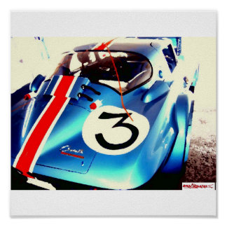 BlueGranSport oil paint effect, Poster