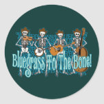 ¡Bluegrass al hueso! Pegatinas Redondas