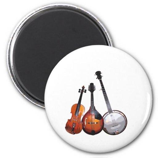 Bluegrass Band 2 Inch Round Magnet