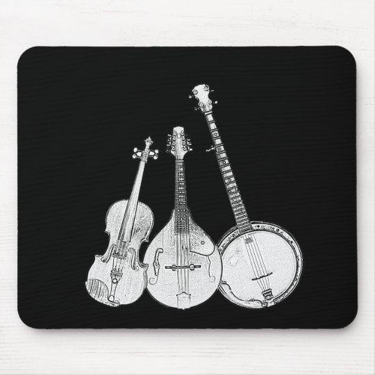 Bluegrass Band B&W Mouse Pad