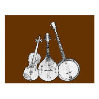 Bluegrass Band B W Post Card