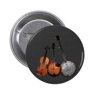Bluegrass Band Cartoon Button