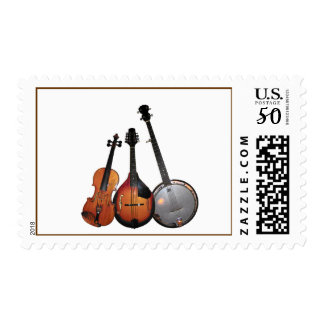 Bluegrass Band Cartoon Postage