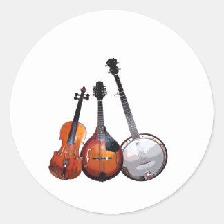 Bluegrass Band Classic Round Sticker