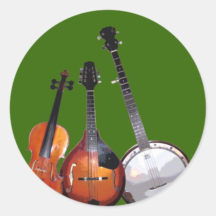 Bluegrass Band Filtered Classic Round Sticker