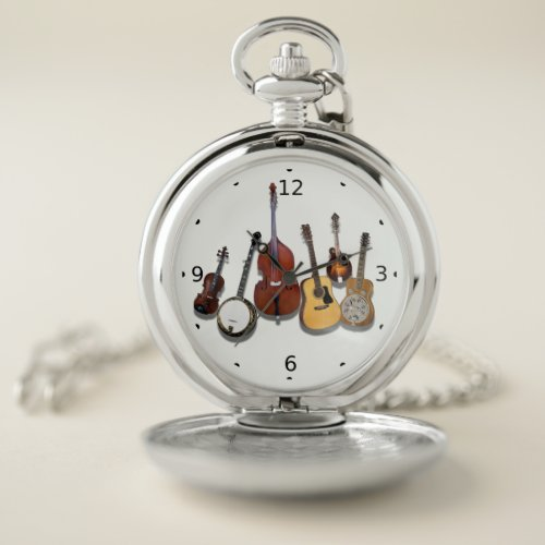 BLUEGRASS BAND POCKET WATCH