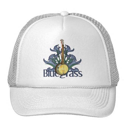 Bluegrass Banjo Design Caps Trucker Hat