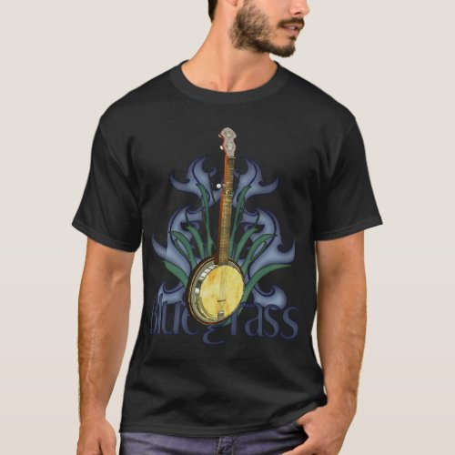 Bluegrass Banjo Design T_Shirts
