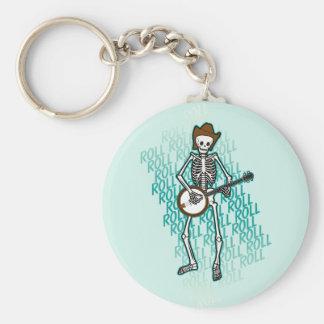 Bluegrass Banjo Skeleton Key Chain