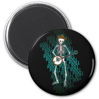 Bluegrass Banjo Skeleton Fridge Magnet