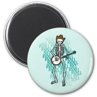 Bluegrass Banjo Skeleton Refrigerator Magnet