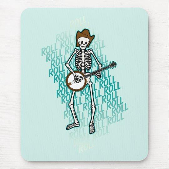 Bluegrass Banjo Skeleton Mouse Pad