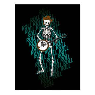 Bluegrass Banjo Skeleton Postcard