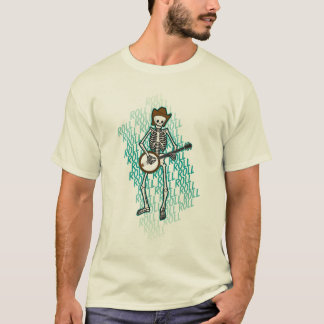 Bluegrass Banjo Skeleton T-Shirt