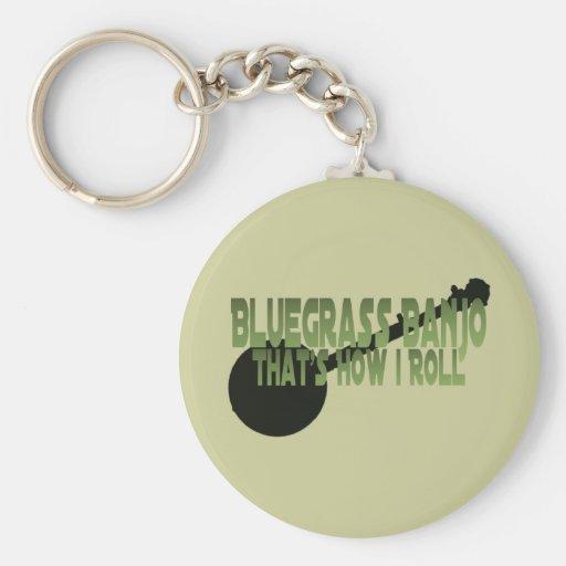 Bluegrass Banjo. That's How I Roll Basic Round Button Keychain