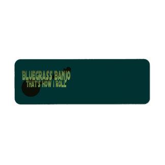 Bluegrass Banjo. That's How I Roll Custom Return Address Label