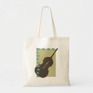 Bluegrass Bass: Less is More Budget Tote Bag