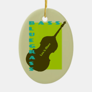 Bluegrass Bass: Less is More Ceramic Ornament