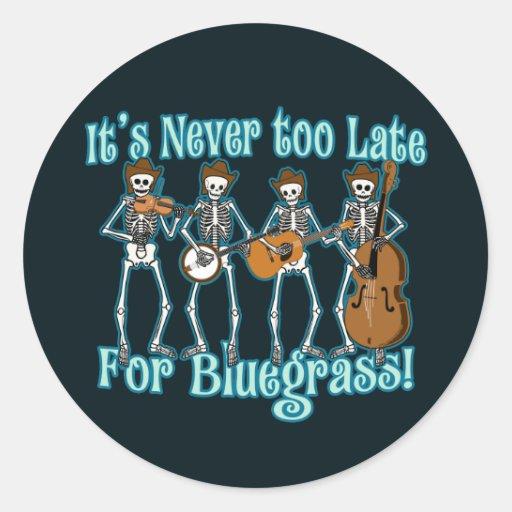 Bluegrass Beyond Round Stickers