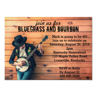"Bluegrass Birthday Party Invitation 4.5"" X 6.25"" Invitation Card"