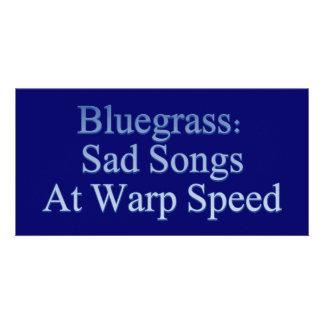 Bluegrass: Canciones tristes a la velocidad de la  Tarjeta Fotográfica Personalizada