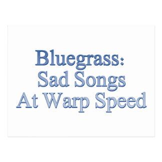 Bluegrass: Canciones tristes a la velocidad de la  Tarjeta Postal