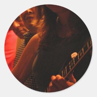 Bluegrass de la noche etiquetas redondas