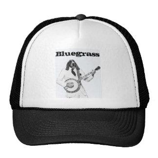 """Bluegrass"" -Dog with Banjo- Trucker Hat"