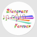 Bluegrass Forever Round Stickers