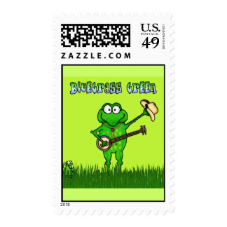 Bluegrass Green Postage Stamps
