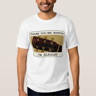 Bluegrass Guitar T-Shirt - Thank You Mr. Martin..