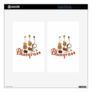 Bluegrass Instruments Kindle Fire Decals