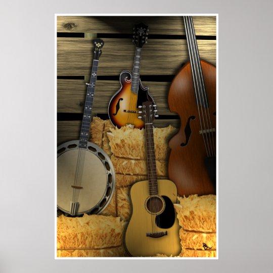 Bluegrass Instruments Poster Zazzle Com