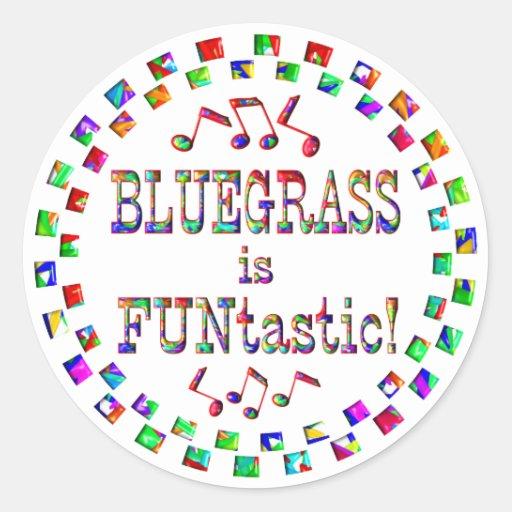 Bluegrass is FUNtastic Classic Round Sticker