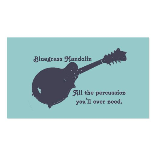 Bluegrass Mandolin - All the Percussion You Need Business ...