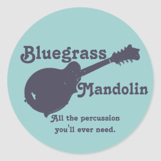 Bluegrass Mandolin - All the Percussion You Need Classic Round Sticker